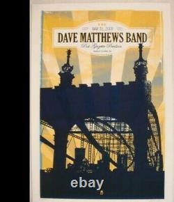 Dave Matthews Band Poster 2008 Burgettstown, PA N2 Signed AP Rare! Sold Out