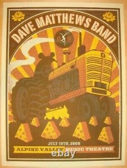 Dave Matthews Band Poster 2009 Alpine East Troy, WI N2 Signed/#1050 Rare