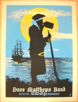 Dave Matthews Band Poster 2009 Coco Cay Bahamas Blue Numbered #/350 Rare