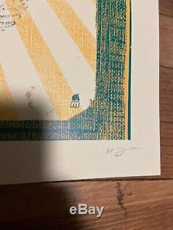 Dave Matthews Band Poster 2009 Des Moines, IA Signed AP Methane Mint RARE 18x24