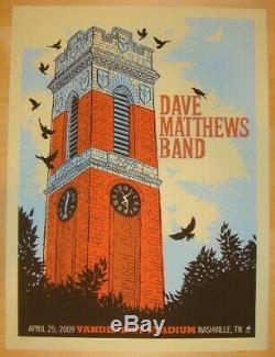 Dave Matthews Band Poster 2009 Nashville, TN Signed/#1150 Rare! Sold Out