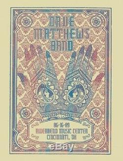 Dave Matthews Band Poster 2009 Riverbend Cincinnati OH Signed & Numbered #/450