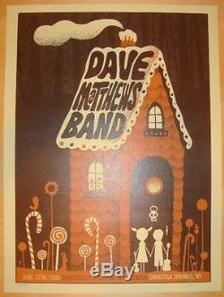 Dave Matthews Band Poster 2009 SPAC Saratoga Springs NY N1 Signed A/P