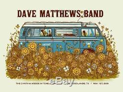 Dave Matthews Band Poster 2009 Woodlands Texas Numbered #/500 Rare