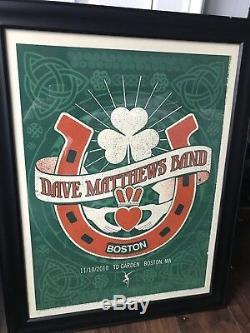 Dave Matthews Band Poster 2010 Boston, MA 11.10.2010 Mint Conditon