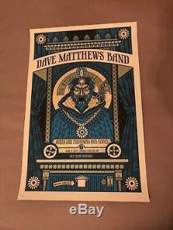Dave Matthews Band Poster 2010 DMB Fortune Teller #/400 Darien Lake RARE! Zoltar