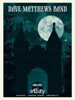 Dave Matthews Band Poster 2010 Hartford CT N2 Signed & Numbered #/550 Rare