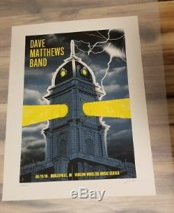 Dave Matthews Band Poster 2010 Noblesville, IN Signed/#725 Rare! Sold Out