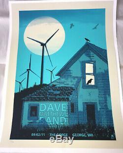Dave Matthews Band Poster 2011 CARAVAN TOUR @ the Gorge Gorge Windmills