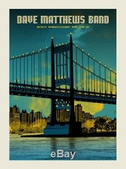 Dave Matthews Band Poster 2011 Randall's Island New York, NY Caravan N3 #/850