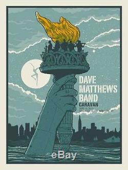 Dave Matthews Band Poster 2011 Randall's Island New York NY Caravan S/N N1 #/900