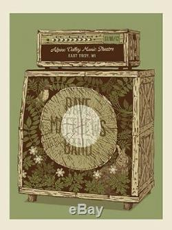 Dave Matthews Band Poster 2012 Alpine East Troy WI N1 Amp #/1400