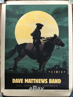 Dave Matthews Band Poster 2012 Charlottesville 12/14/12 #353/865- READ DESCRIP