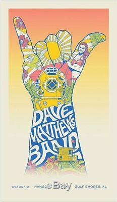 Dave Matthews Band Poster 2012 Hangout Festival Gulf Shores AL Artist Proof Copy