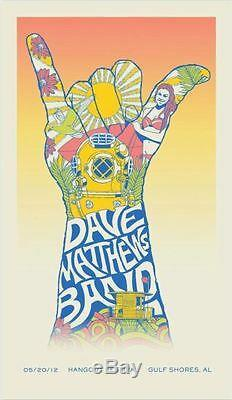 Dave Matthews Band Poster 2012 Hangout Festival Gulf Shores AL S/N #34/350