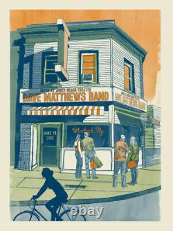 Dave Matthews Band Poster 2012 Nikon Wantagh Jones Beach NY N2 S/N #/750