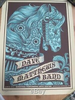 Dave Matthews Band Poster 2012 SPAC Saratoga Springs NY #562/800 Signed