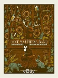 Dave Matthews Band Poster 2012 SPAC Saratoga Springs NY N2 #40/625 Rare