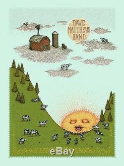 Dave Matthews Band Poster 2013 Alpine East Troy WI N1 #/1350 Marq Spusta Rare