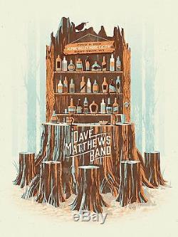 Dave Matthews Band Poster 2013 Alpine East Troy WI N2 #/1465 Tree Bar Rare