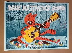 Dave Matthews Band Poster 2013 Camden NJ Fitz Susquehanna N1 #/710 DMB