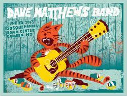 Dave Matthews Band Poster 2013 Camden NJ Fitz the Cat N1 #/710 Rare