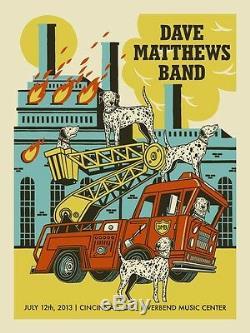 Dave Matthews Band Poster 2013 Cincinnati Riverbend Ohio #/575 Rare