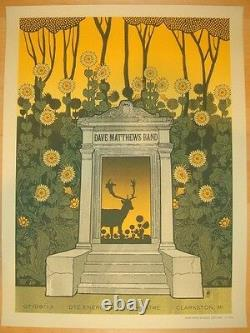 Dave Matthews Band Poster 2013 Clarkston MI DTE Signed & Numbered #575