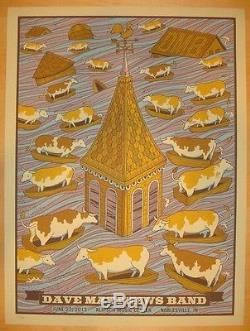Dave Matthews Band Poster 2013 Noblesville Cows N2 Numbered #/910 Rare
