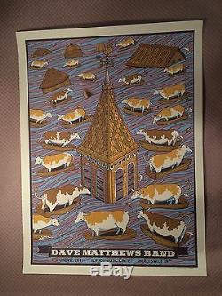 Dave Matthews Band Poster 2013 Noblesville Klipsch Music Center N2 Signed AP DMB