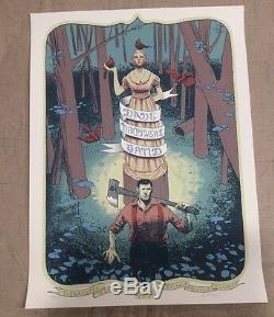 Dave Matthews Band Poster 2013 Noblesville Lumberjack N1 AP Klipsch Music Center