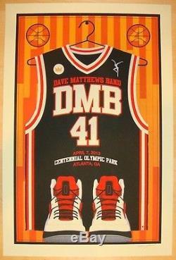 Dave Matthews Band Poster 2013 Olympic Park Atlanta GA Basketball S/N #/500