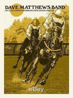 Dave Matthews Band Poster 2013 SPAC Saratoga Springs NY N1 #/810