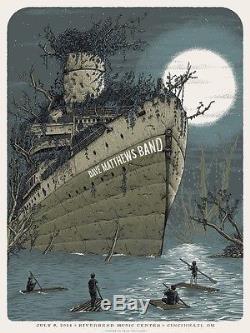 Dave Matthews Band Poster 2014 Cincinnati Riverbend Ohio Signed & Numbered #/50