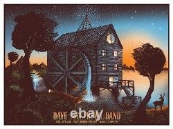 Dave Matthews Band Poster 2014 First Niagara Pavilion Burgettstown PA S/N #50 AE