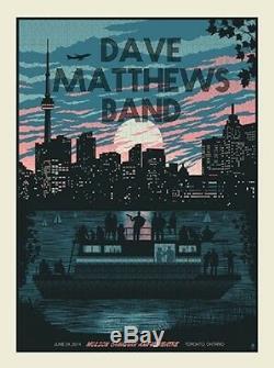 Dave Matthews Band Poster 2014 Molson Canadian Amp Toronto Ontario #/625 Rare
