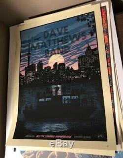 Dave Matthews Band Poster 2014 Molson Canadian Methane Toronto Signed #/625 Rare