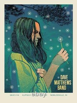 Dave Matthews Band Poster 2014 Noblesville N2 Numbered #/1065 Rare