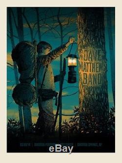 Dave Matthews Band Poster 2014 SPAC Saratoga Springs NY N1 #/920 Rare