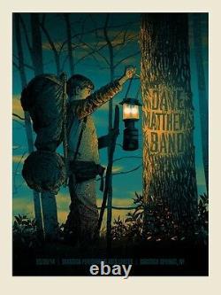 Dave Matthews Band Poster 2014 SPAC Saratoga Springs NY N1 S/N #40/920 Rare