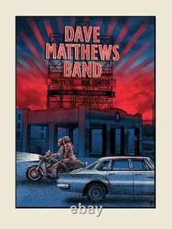 Dave Matthews Band Poster 2014 Tulsa OK Signed & Numbered #/300 Rare