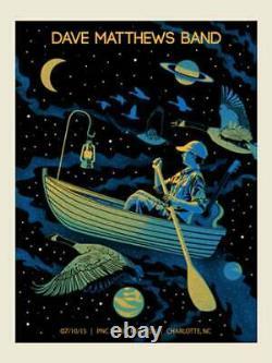 Dave Matthews Band Poster 2015 Charlotte North Carolina Signed & Numbered #/720