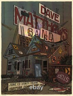 Dave Matthews Band Poster 2015 Hartford CT Signed & Numbered #/55 Artist Edition