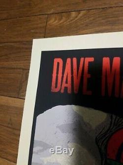 Dave Matthews Band Poster 2015 Tuscaloosa Amphitheatre Roll Tide SIGNED AP MINT