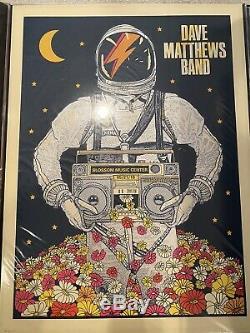 Dave Matthews Band Poster 2016 Blossom Cuyahoga Falls, OH Signed/#810 Rare