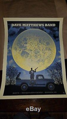 Dave Matthews Band Poster 2018 Brandon Moon