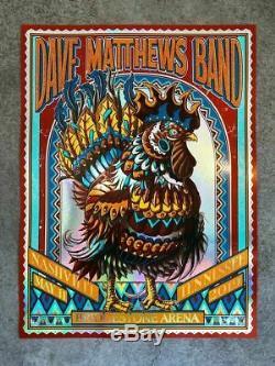 Dave Matthews Band Poster 2019 Bioworkz AP FOIL Signed x/50 Nashville 5/11 DMB