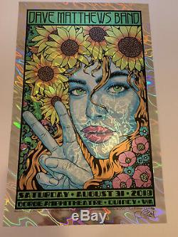 Dave Matthews Band Poster 2019 Gorge Sperry Lava Foil N2 DMB #x/38 8/31/2019