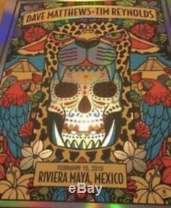 Dave Matthews Band Poster 2019 Mexico Foil #/40