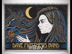 Dave Matthews Band Poster 2019 N2 Noblesville, IN SLATER 50/50 SIGNED AP MINT